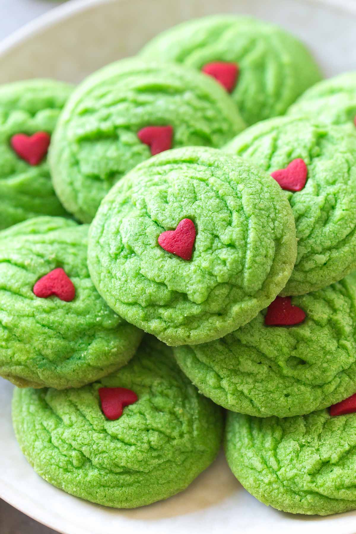 Dairy Free Grinch Cookies