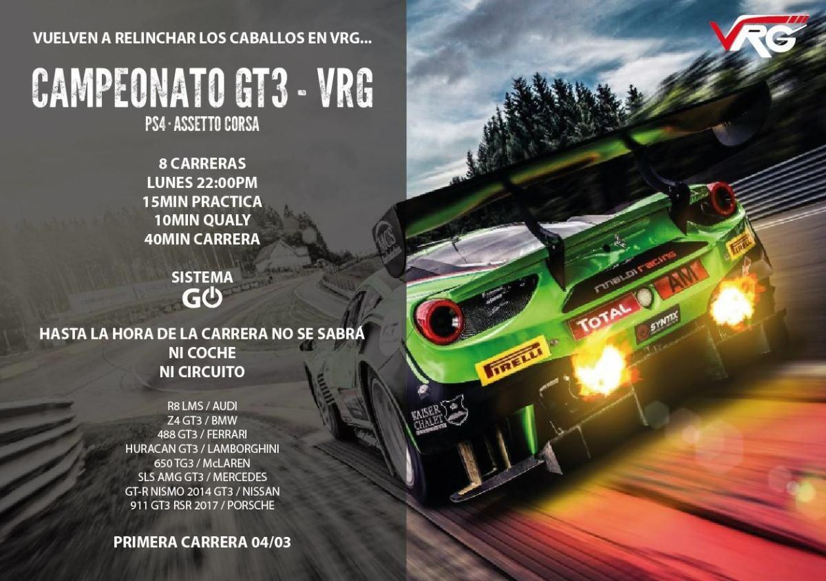 Campeonato GT3 GO! Assetto Corsa