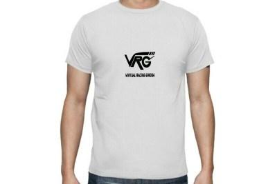 Camiseta VRG Basic blanca logo negro
