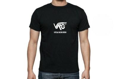 Camiseta VRG Basic negra logo blanco