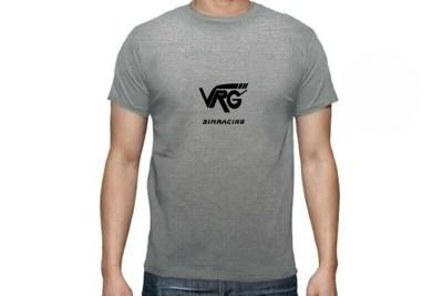 Camiseta VRG Simracing gris logo negro