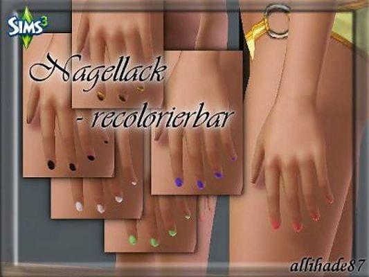 Sims 3 nail, tattoo, accessories