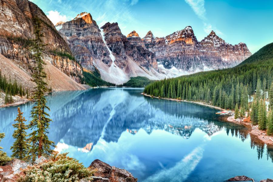 uitzicht op Canadese bergen
