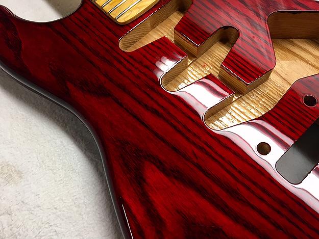Tone Bomb Stratocaster Body Sims Guitar Refinishing