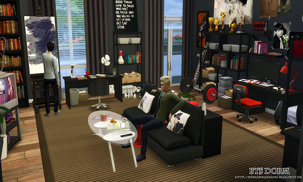 Bts Dorm By Lovias Simsday