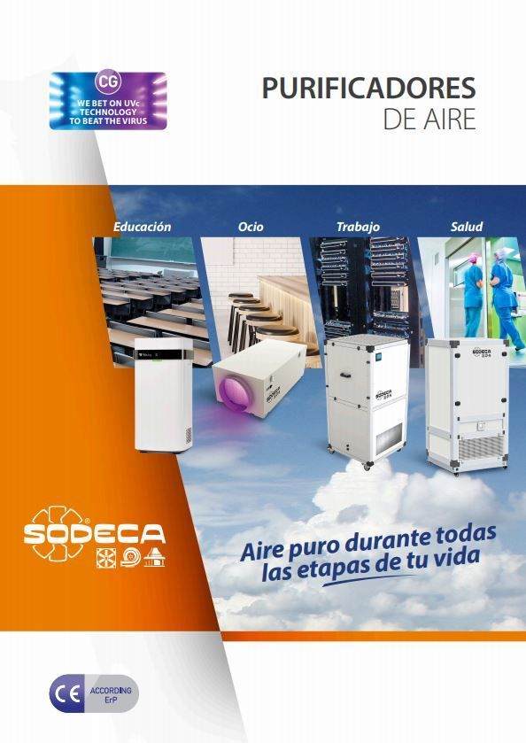 Imagen de portada de la tarifa de purificadores de aire de Sodeca 2020