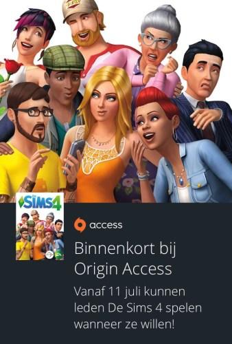De Sims 4 zal vanaf 11 juli 2017 te spelen zijn met Origin Access