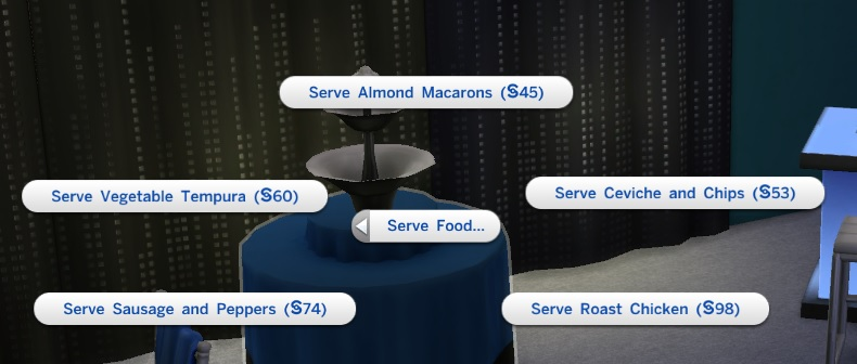 Sims 4 luxury party buffet table