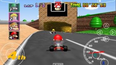 Screenshot di Mario Kart su smartphone con Mupen 64!