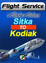 Flight Service  AS391 - Sitka to Kodiak