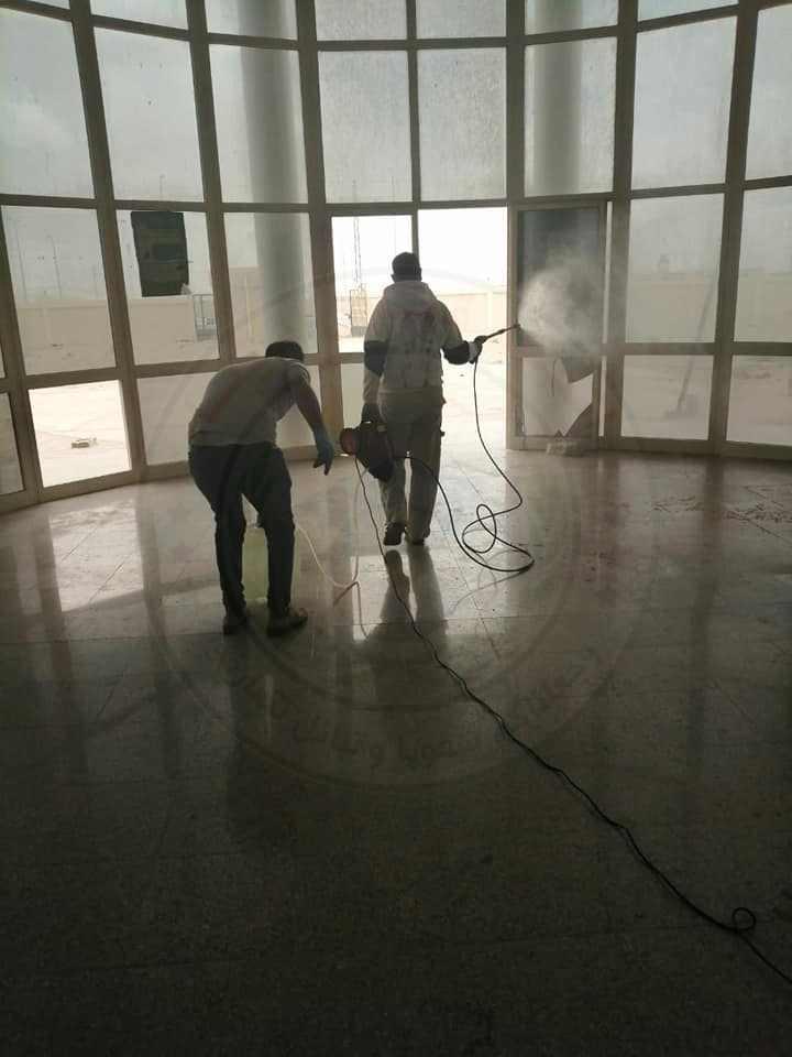 44281 تطهير وتعقيم المنشأت الصحية بشمال سيناء 9 - وكالة سيناء نيوز