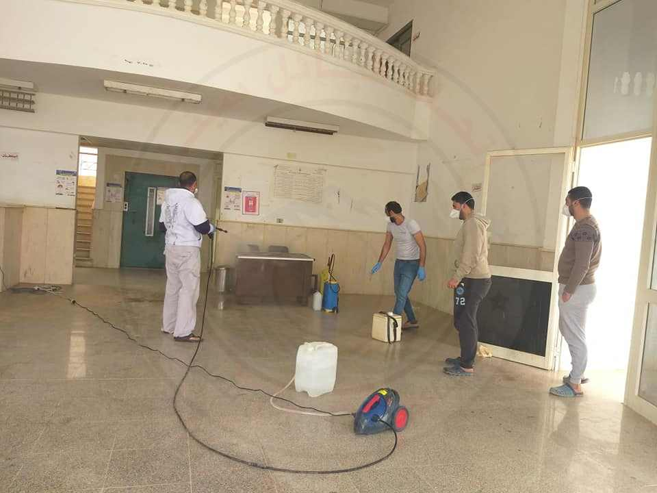 53447 تطهير وتعقيم المنشأت الصحية بشمال سيناء 8 - وكالة سيناء نيوز
