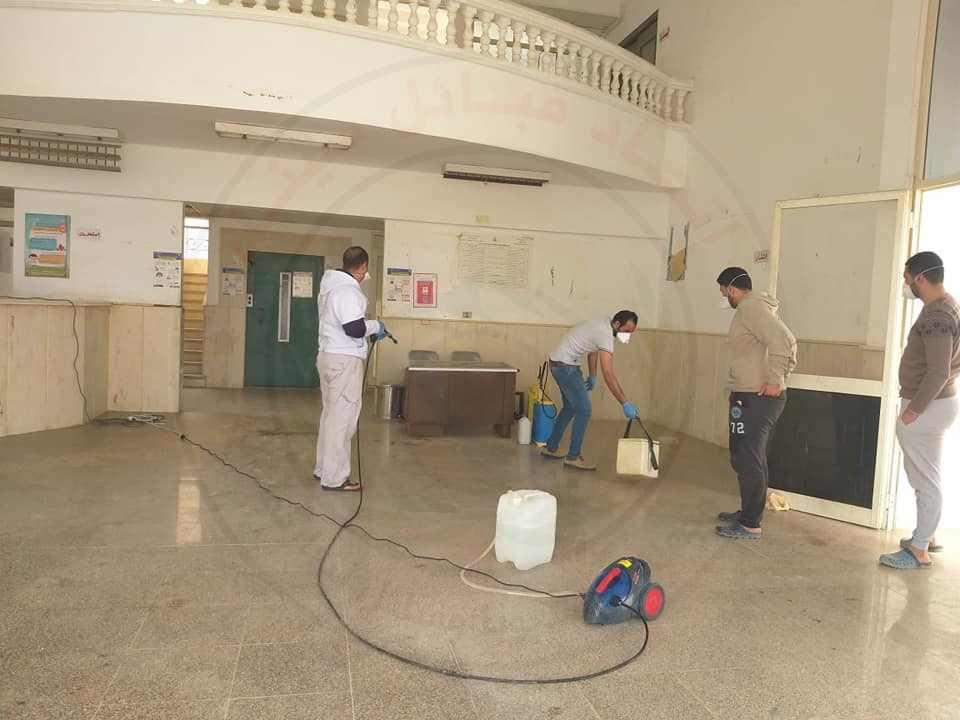 55117 تطهير وتعقيم المنشأت الصحية بشمال سيناء 4 - وكالة سيناء نيوز