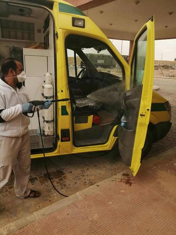 70257 تطهير وتعقيم المنشأت الصحية بشمال سيناء 1 - وكالة سيناء نيوز