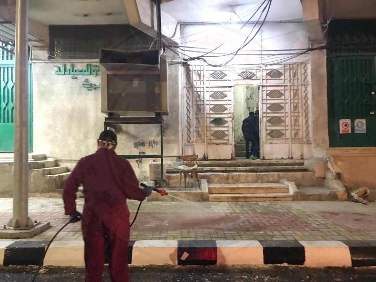 محافظ شمال سيناء يطلق أعمال تعقيم مدينة العريش2 - وكالة سيناء نيوز