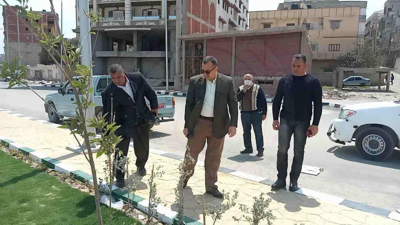 نائب محافظ شمال سيناء يتفقد عددا من المشروعات التنموية في العريش
