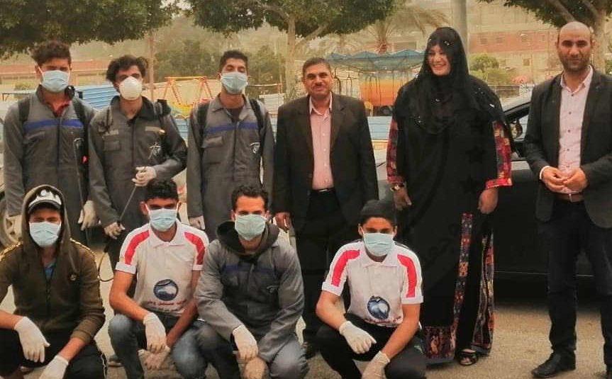 بالصور .. شباب بئر العبد بشمال سيناء يقودون حملة لتعقيم منشأت حكومية وأهلية