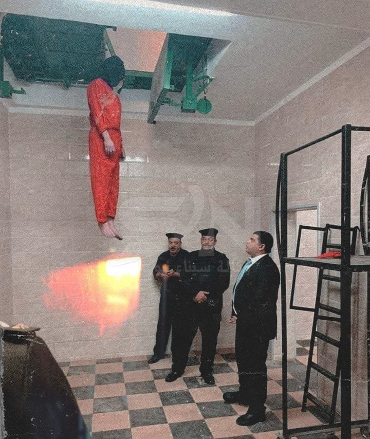 لحظات إعدام الإرهابى هشام عشماوي