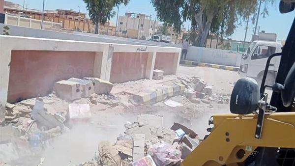 مدينة الحسنة بوسط سيناء تتخلص من 8 اطنان قمامة