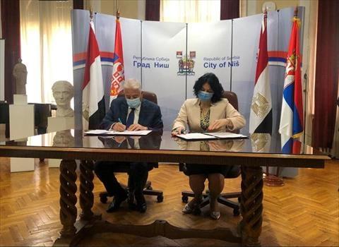 اتفاقية تمهيدية للتآخي بين مدينة نيش في صربيا وشرم الشيخ