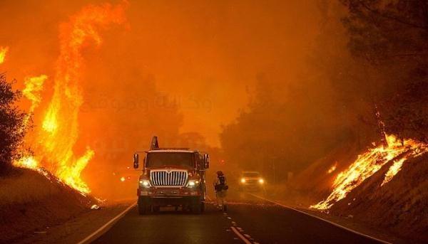 روسيا ترسل أول قاذفة مياه للمساعدة في إطفاء الحرائق باليونان