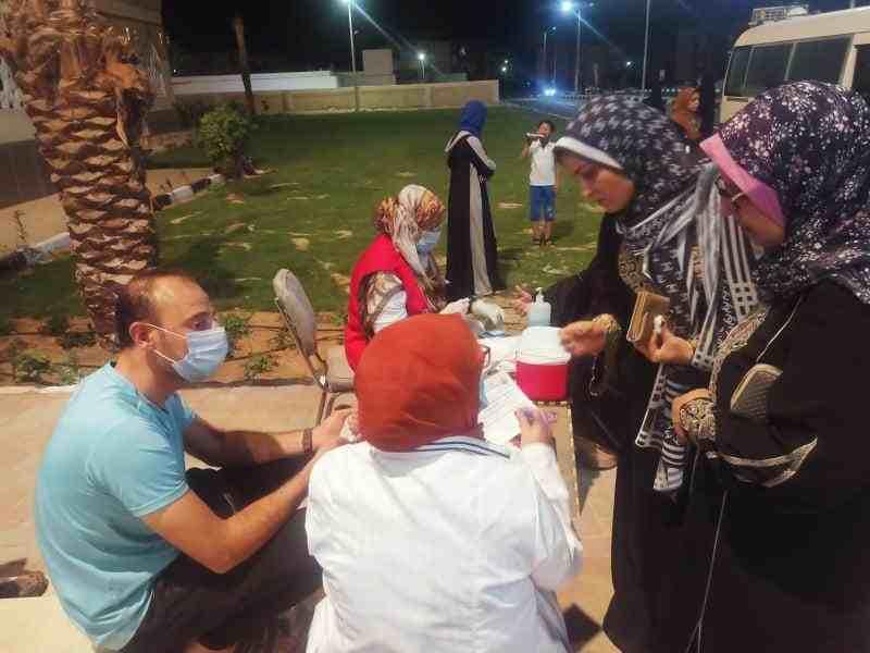 اقبال المواطنين على حملة الكشف عن الاعتلال الكلوي3 - وكالة سيناء نيوز