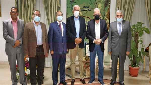 """محافظ جنوب سيناء يستقبل مدير عام """"اكساد"""""""