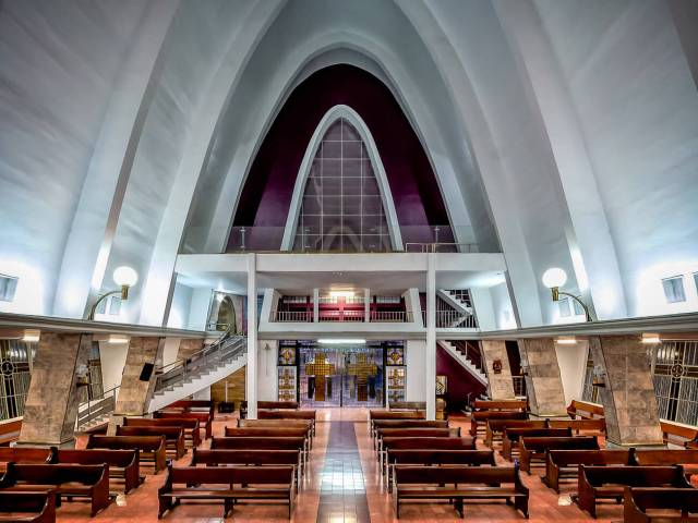 Interior de la Parroquia de Nuestra Señora del Carmen
