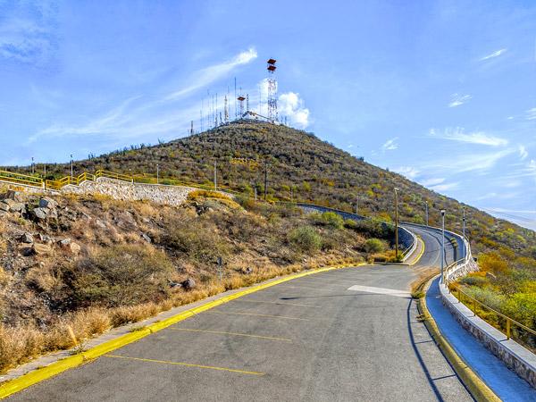 Camino que conduce a la cima del Cerro de la Memoria