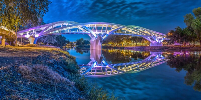 Puente Bimodal en el Río Tamazula