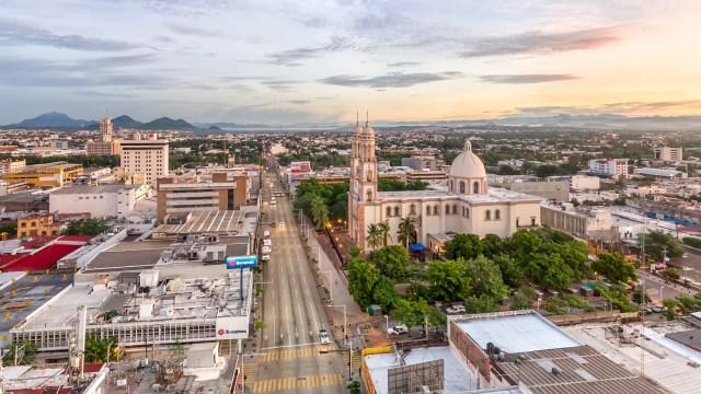 Fotografía aérea de la Catedral de Culiacán