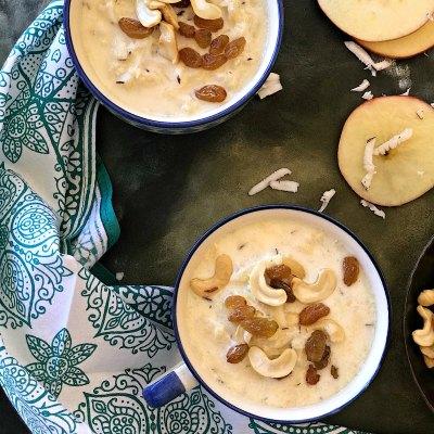 Apple Coconut Kheer – Easy 15 minute Microwave Dessert