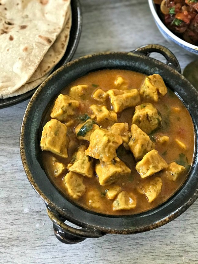 Gram flour dumplings Curry