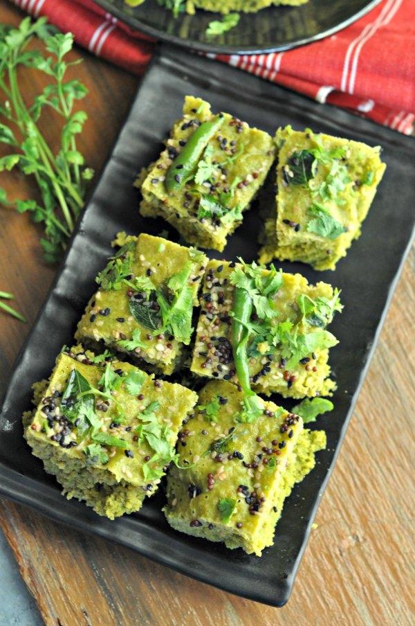 Palak Dhokla Recipe