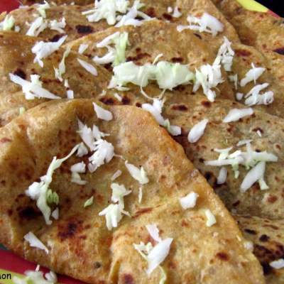 Cabbage Cheese Parantha BM#4 Day 6