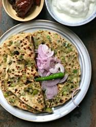 green peas parantha