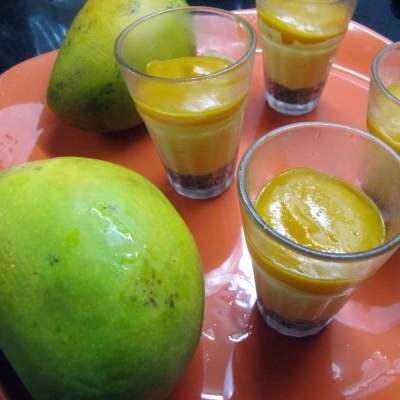 Three Layered Mango Cheese Cake -BM 6 Post 2