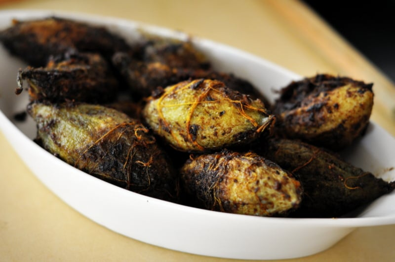 channa dal stuffed Karela