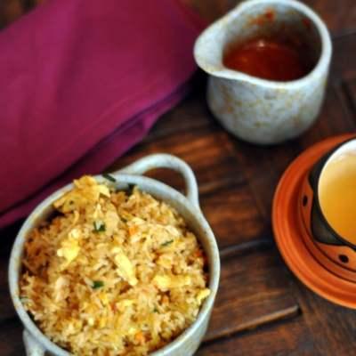 Schezwan Egg Fried Rice