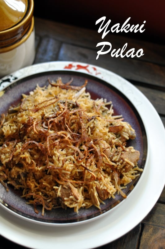 Lucknow awadhi recipes yakhni pulao sinamontales for Awadhi cuisine book