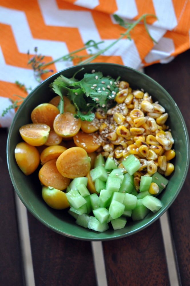 cape gooseberry and corn salad