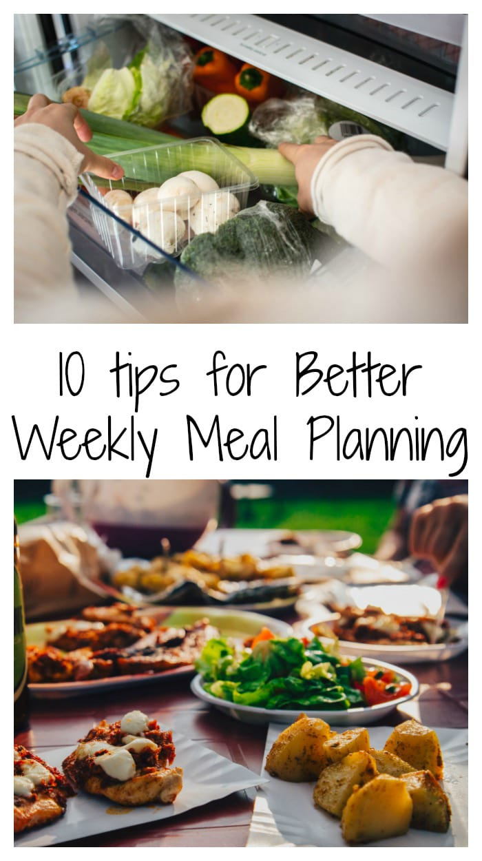 manage weekly meals