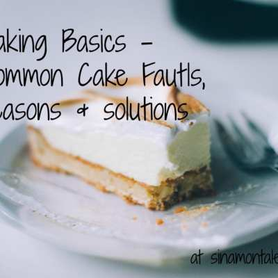 Problems with Cakes (Common Cake Faults) : Baking Basics