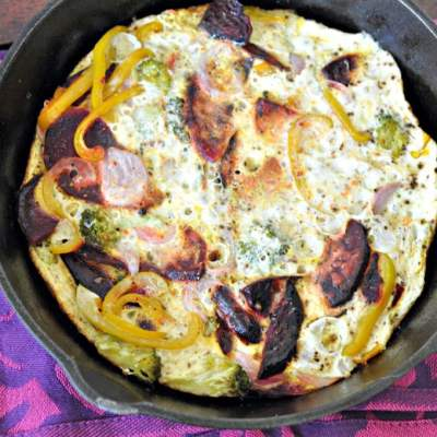 Eggwhite Frittata with Roasted Vegetables