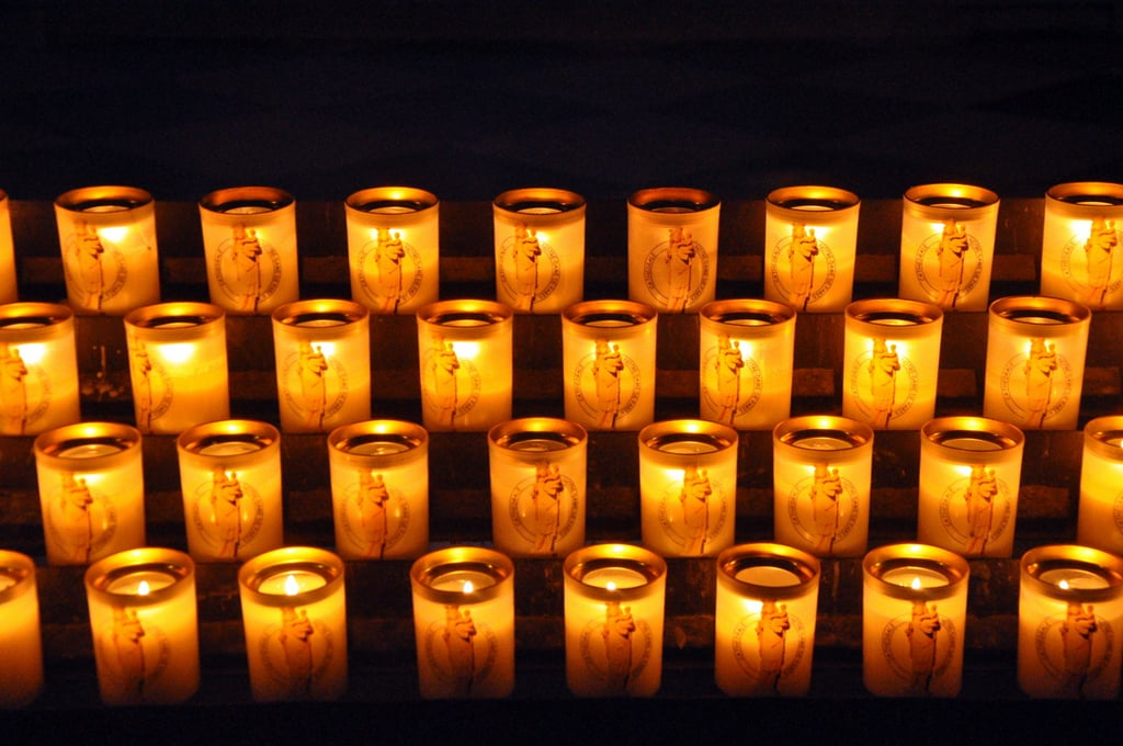 Candles in the Notre Dame
