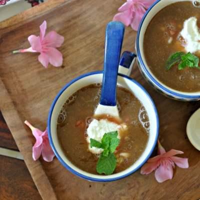 Chilled Melon Soup ( Melon Gazpacho)