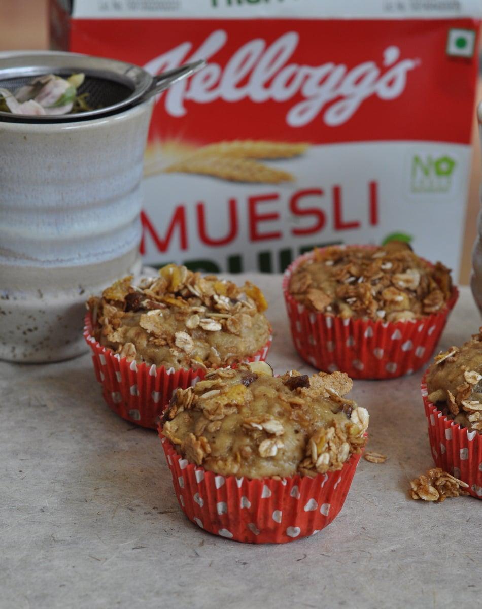 Cherry Muesli muffins with Muesli Streusel