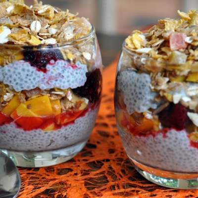 Chia Seeds & Muesli Breakfast Parfait