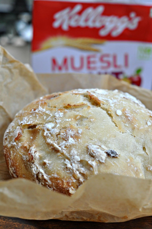 No Knead Muesli Dutch Oven Bread 1