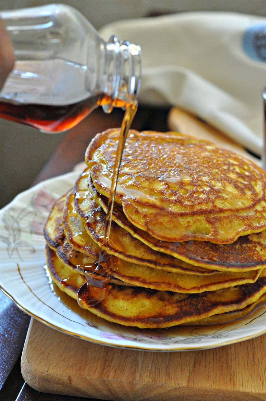 Whole Wheat Spiced Pumpkin Pancakes
